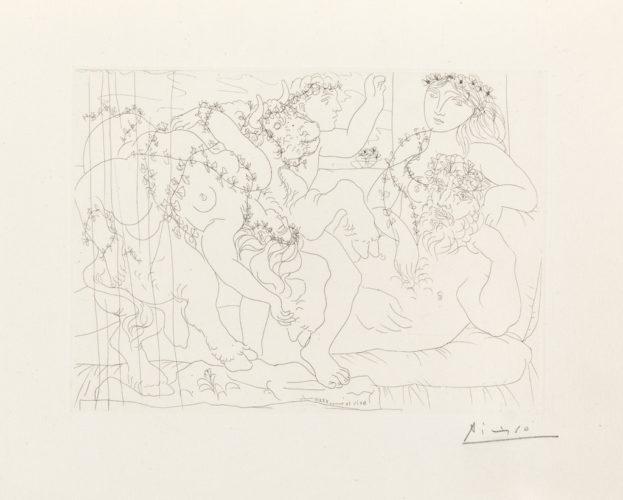Sculptur, Garçon et Modèle avec un Groupe Sculpté Représentant le Rapt d'Europe by Pablo Picasso