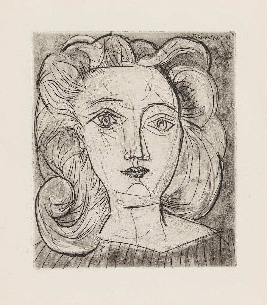 Tête De Femme (Françoise) by Pablo Picasso
