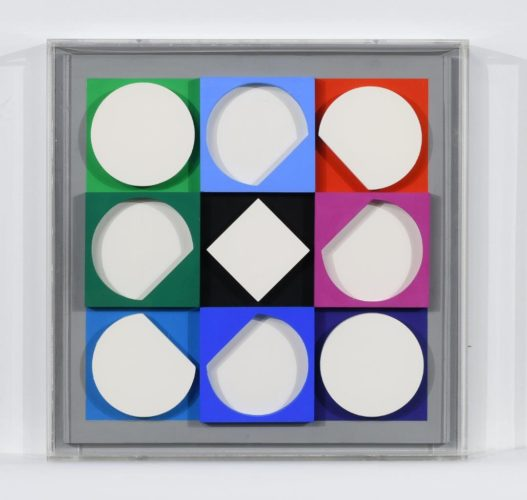 Topaze Blanche. Positif by Victor Vasarely