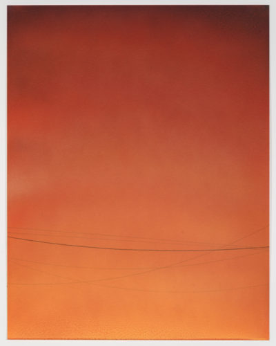 Power Line Drawing #10 by Alex Weinstein at Leslie Sacks Gallery (IFPDA)