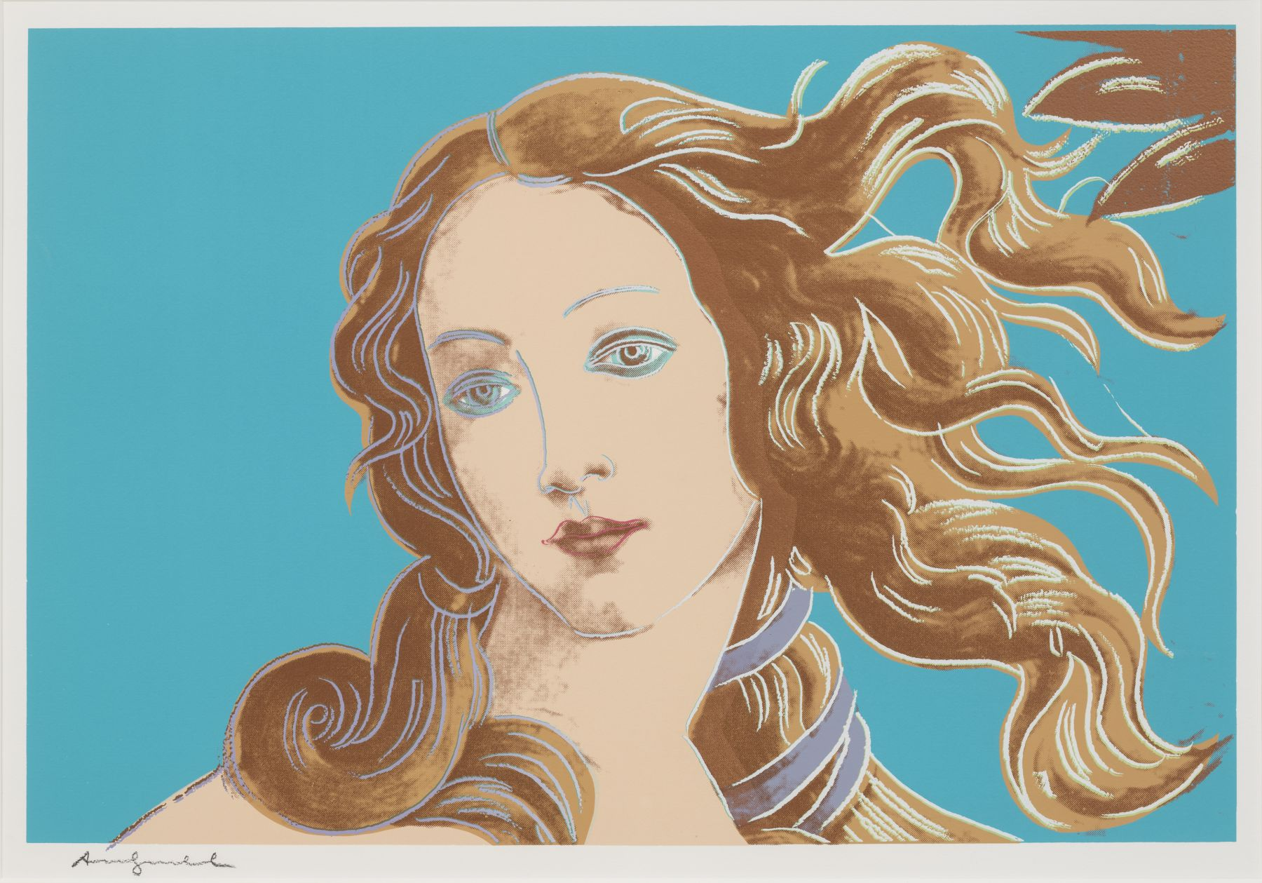 Details of Renaissance paintings (Sandro Botticelli, Birth of Venus, 1482) by Andy Warhol