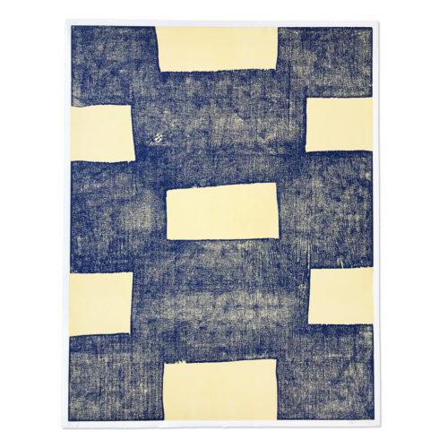 Blue Woodcut by Günther Förg