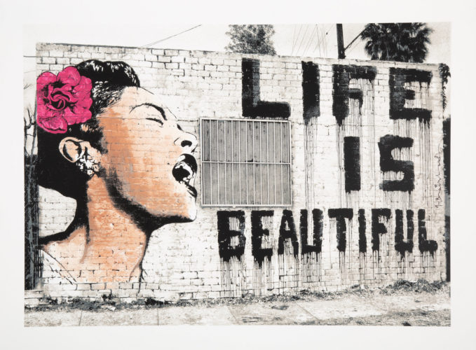 billie is beautiful by Mr. Brainwash at Mr. Brainwash