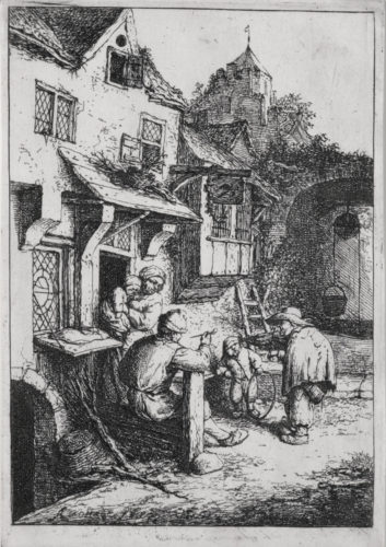The Hunchbacked Fiddler (3rd State) by Adriaen van Ostade at