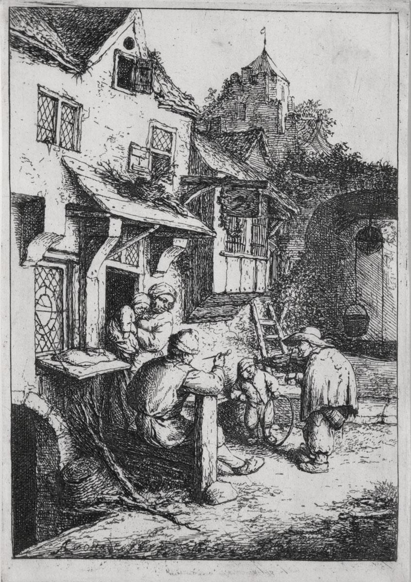 The Hunchbacked Fiddler (3rd State) by Adriaen van Ostade