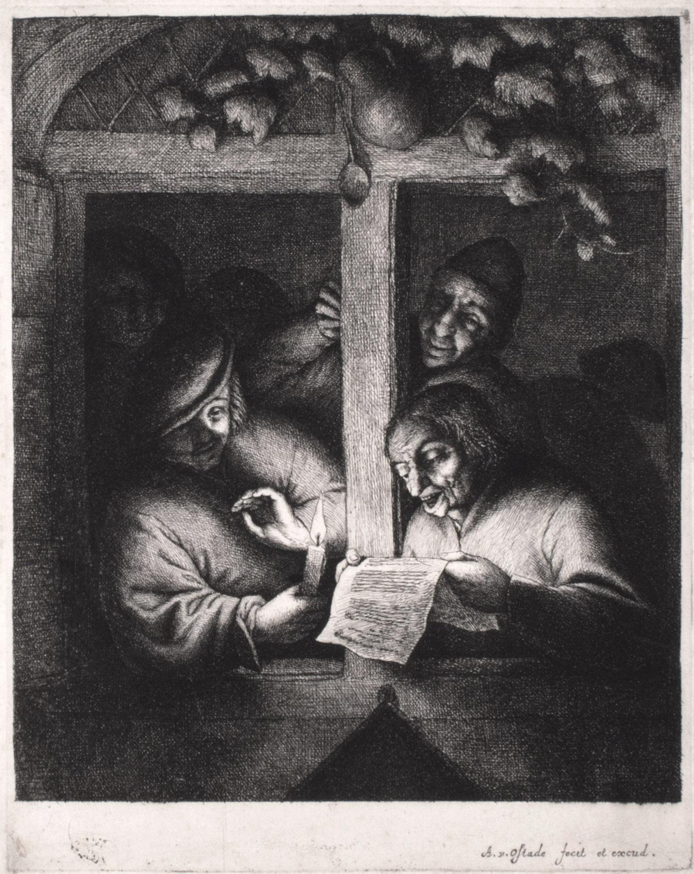 The Singers (4th State) by Adriaen van Ostade