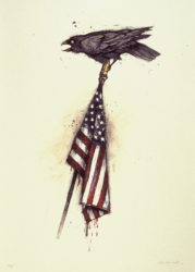 Raven on a Flag by John Alexander at Flatbed Press and Gallery