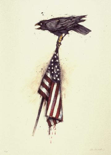 Raven on a Flag by John Alexander
