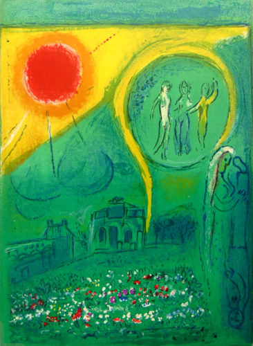 The Carrousel of the Louvre, from: Derrière le Miroir by Marc Chagall at