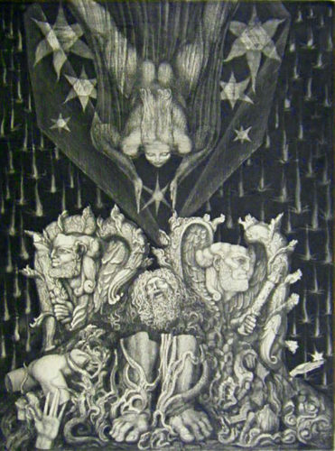 Adam's Destruction and Promise by Ernst Fuchs