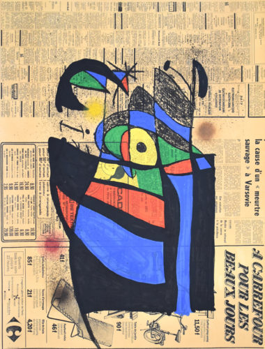The Newspaper   Le Journal by Joan Miro