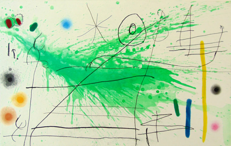 Composition III, from: A Trip to the Country by Joan Miro at Gilden's Art Gallery (IFPDA)