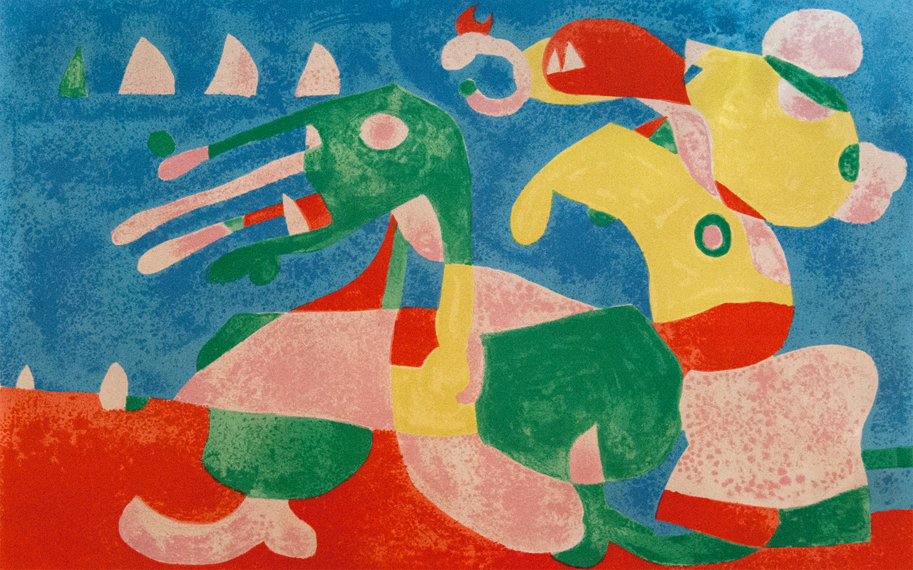 At the Tsar's II, from: Series for King Ubu by Joan Miro
