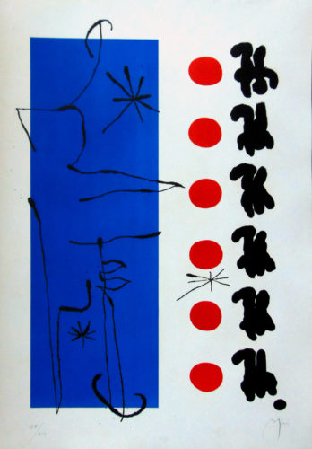 Red and Blue by Joan Miro at Gilden's Art Gallery (IFPDA)