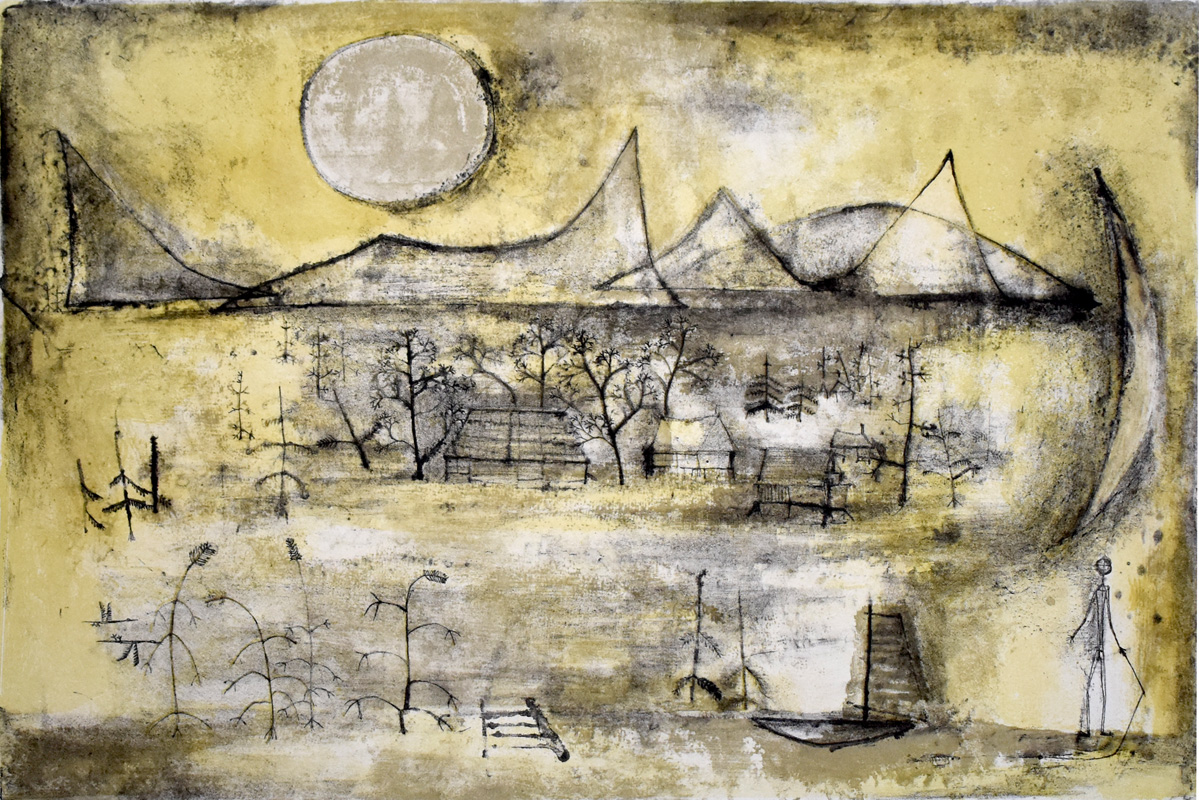 Mountains and Sun by Zao Wou-ki