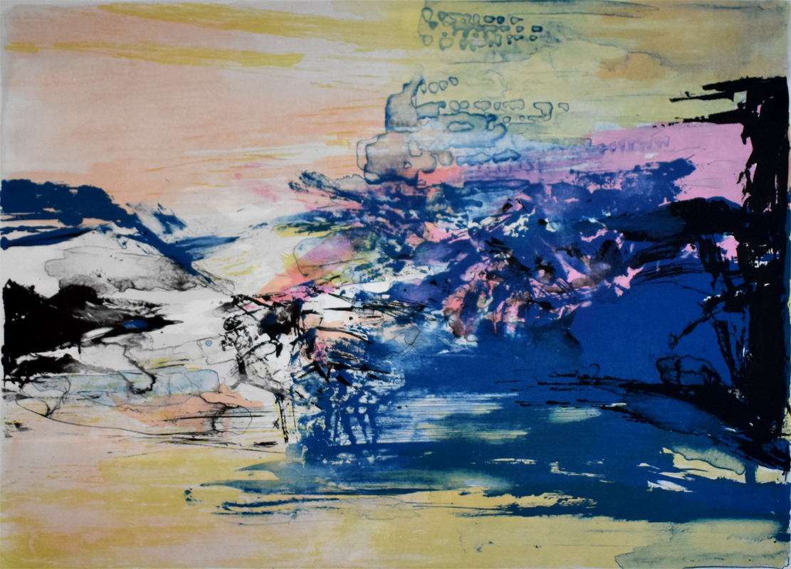 Untitled, from: 12th Anniversary Galeria Joan Prats by Zao Wou-ki