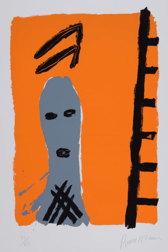 Untitled (Man with Ladder) by Bruce McLean