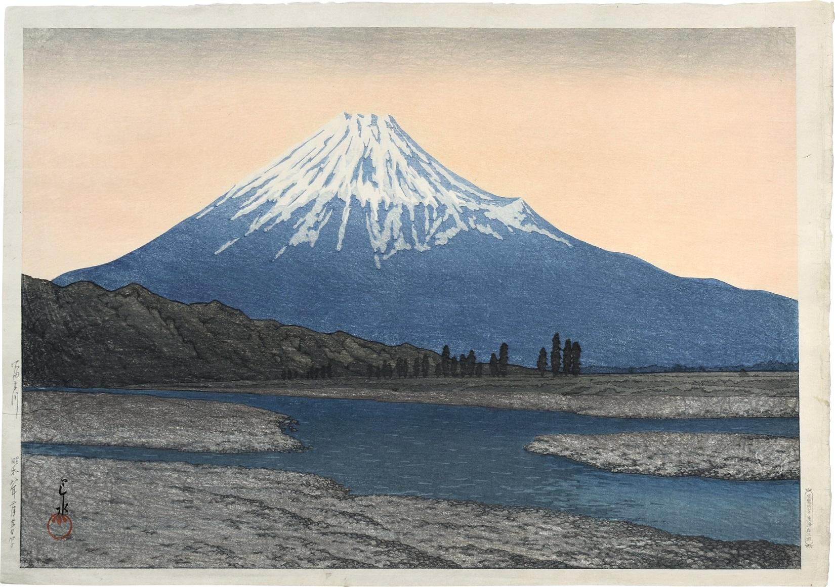 Fuji River by Kawase Hasui