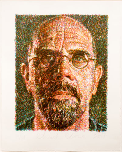 Self-Portrait by Chuck Close at Leslie Sacks Gallery (IFPDA)