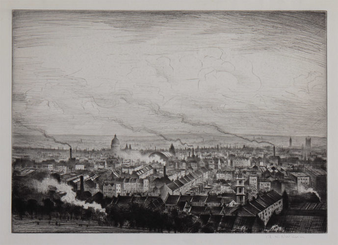 London from Parliament Hill by C. R. W. Nevinson at