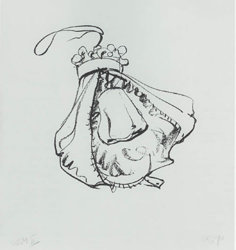 Double-Nose Purse Punching Bag by Claes Oldenburg