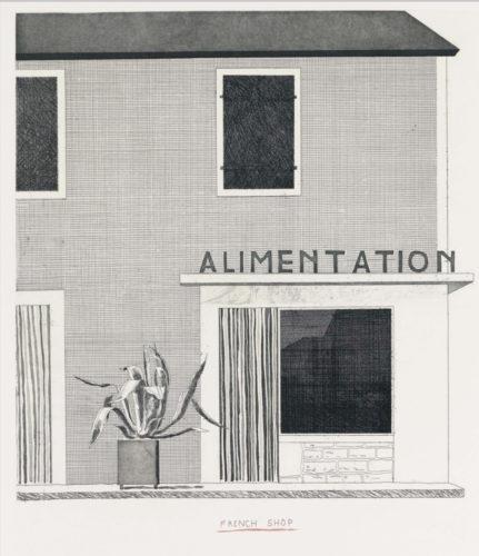 French Shop by David Hockney