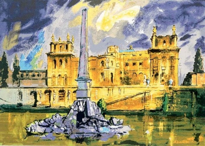 Duchene Fountain, Blenheim by John Piper