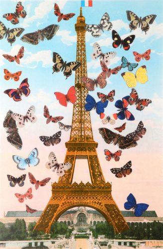 Eiffel Tower Paris Quartet by Peter Blake at