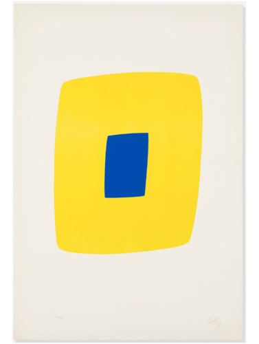 Yellow with Dark Blue by Ellsworth Kelly