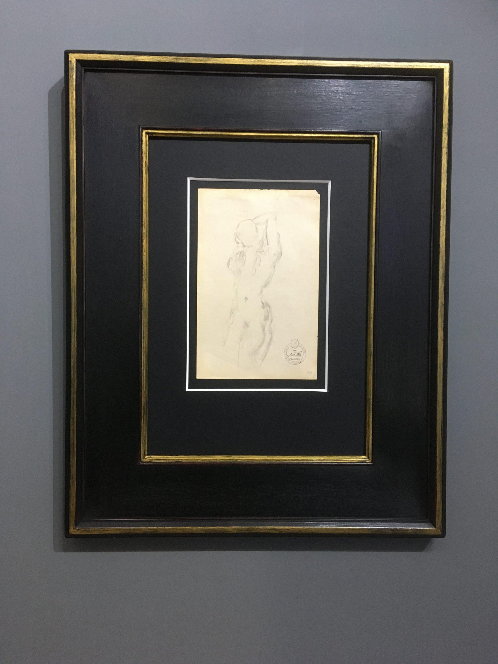 Etude nu féminin du face by Salvador Dali