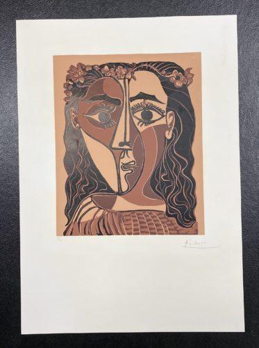Petite tête de femme couronnée by Pablo Picasso at Fairhead Fine Art