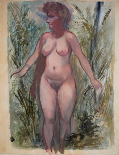 Nackte, Cape Cod (Female Nude, Cape Cod) by George Grosz at