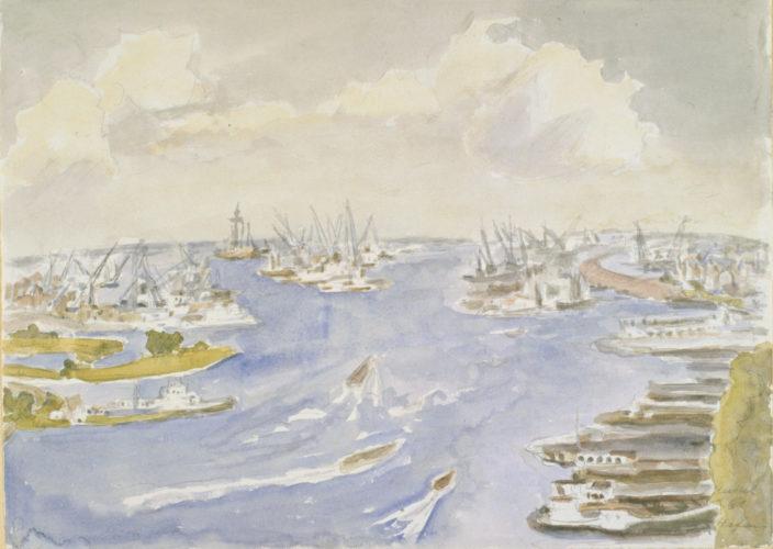 Hafen (Amsterdam) (Harbour (Amsterdam)) by Erich Heckel at Galerie Henze & Ketterer & Triebold