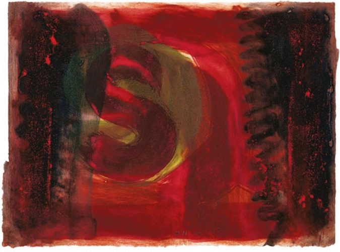 Red Listening Ear by Howard Hodgkin