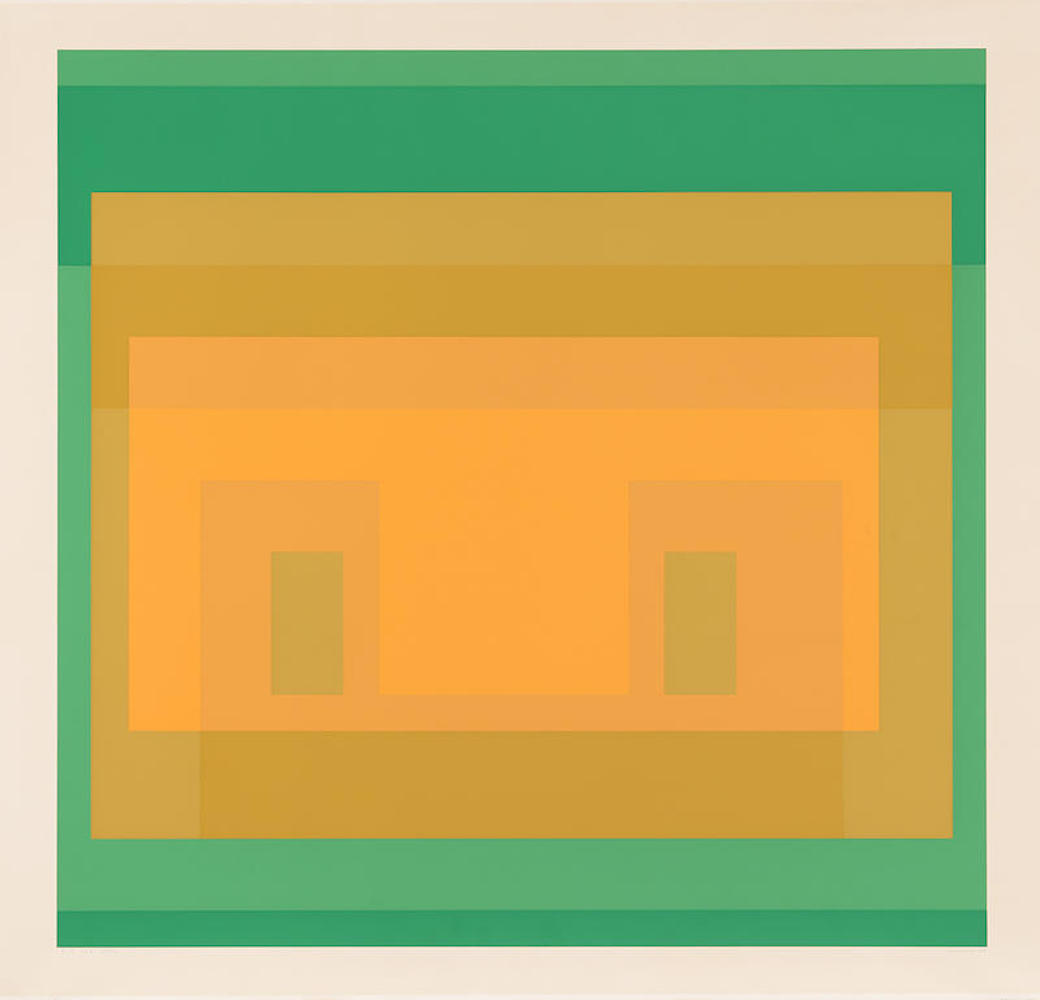 I-S Va 6, from Six Variants by Josef Albers