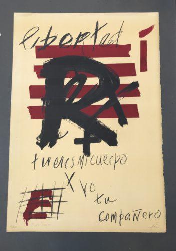 Libertad by Antoni Tapies