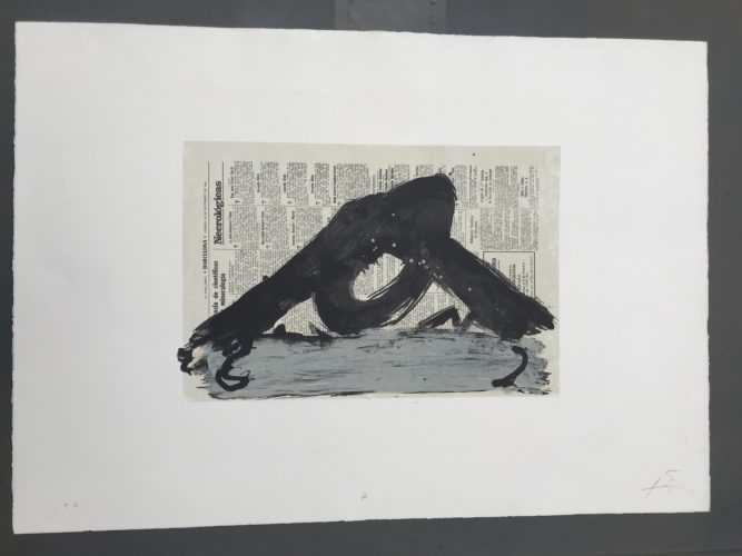 Suite 63×90, Lithograph 7 by Antoni Tapies
