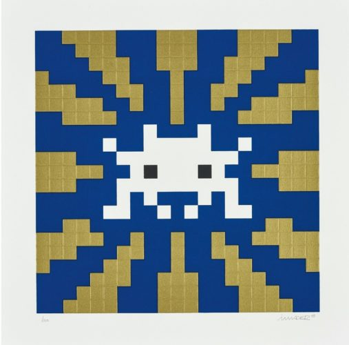 Sunset (Gold and Blue) by Invader