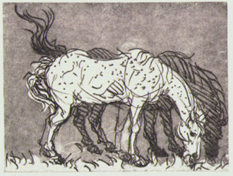 The Mares by Luis Jimenez at Flatbed Press and Gallery