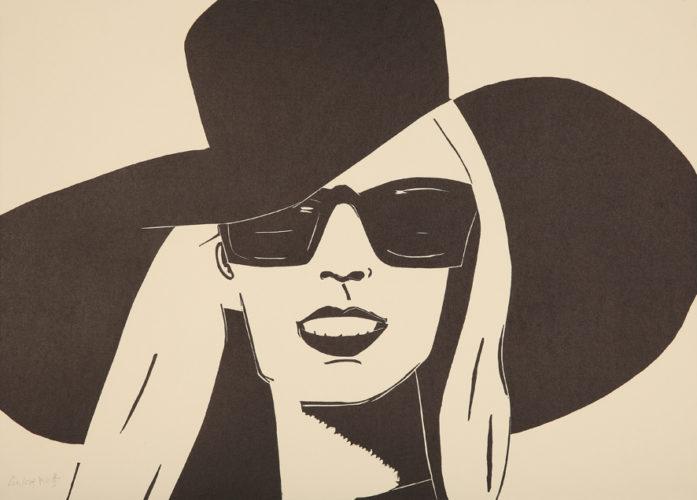 Black Hat (Nicole) by Alex Katz at