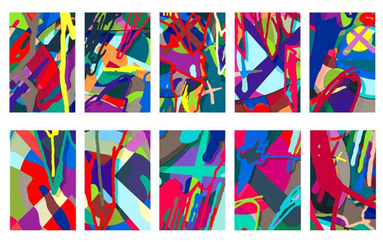 KAWS, Tension (Portfolio of Ten Prints), 2019 by KAWS