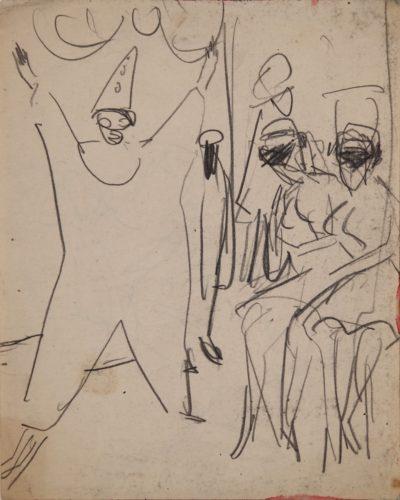Cabaretszene (Cabaret Scene) by Ernst Ludwig Kirchner