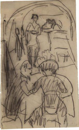 Im Restaurant (In the Restaurant) by Ernst Ludwig Kirchner
