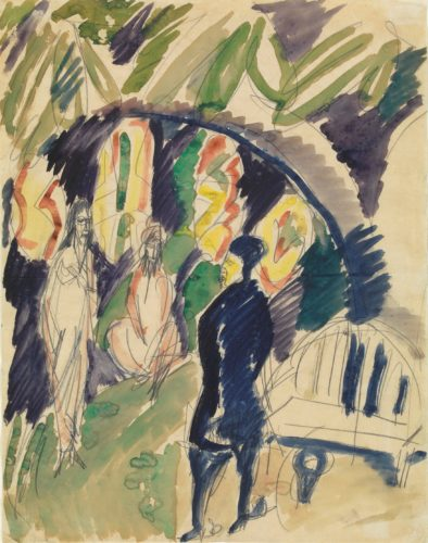 Divan (Orientalische Szene) (Divan (Oriental Scene)) by Ernst Ludwig Kirchner