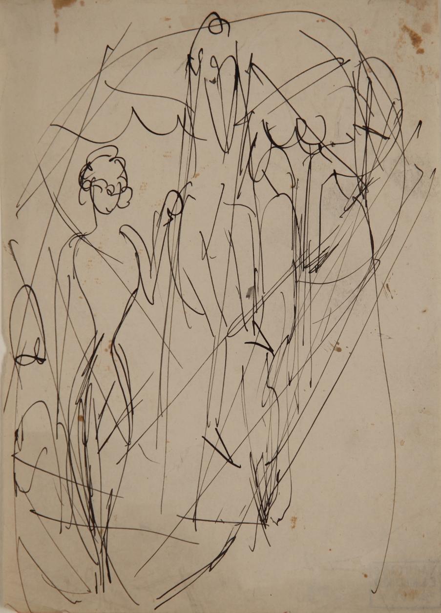 Zirkusszene (Circus Scene) by Ernst Ludwig Kirchner