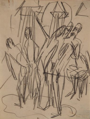 Soldatenbad (Bathing Soldiers) by Ernst Ludwig Kirchner