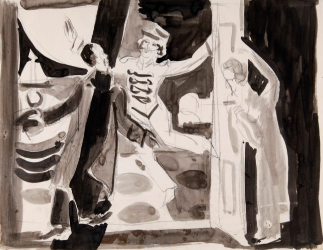 Theaterszene (Theater Scene) by Ernst Ludwig Kirchner at