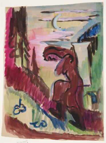 Bäuerin eine Last tragend (Peasant Woman carrying a Load) by Ernst Ludwig Kirchner