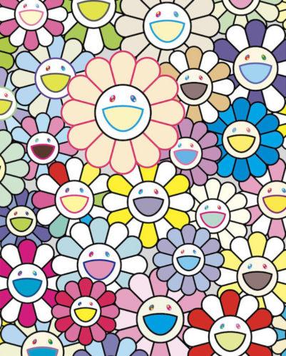 Field of Flowers by Takashi Murakami