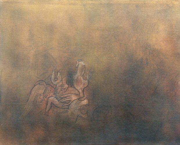 Les Oiseaux by Max Ernst at